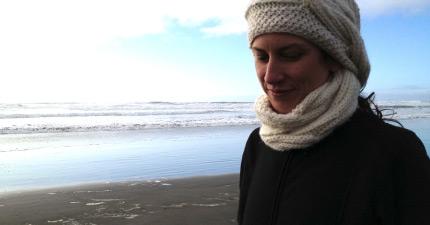 Jean on beach